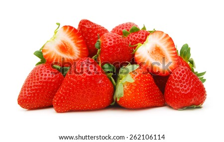 Strawberry isolated on white background closeup