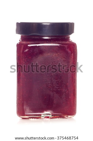 strawberry jam studio cut out - stock photo