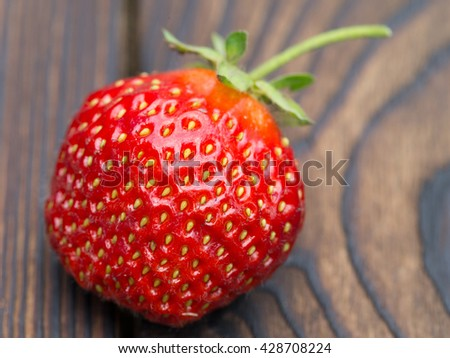 strawberry on an old table