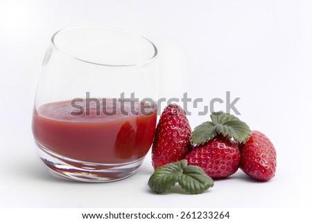 Strawberry Refreshment Drink  - stock photo