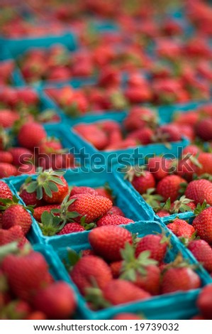 Strawberry's at farmers market