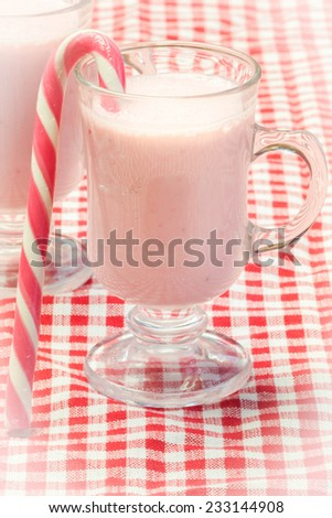 Strawberry smoothie for Christmas