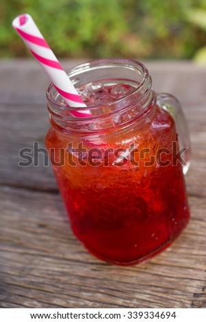 Strawberry soda, Summer beverage, Italian soda.