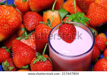Strawberry sweet and delicious Yogurt - stock photo