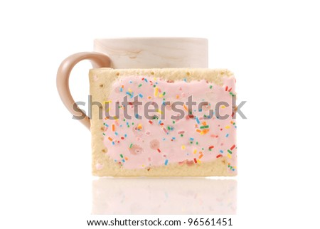 Strawberry Toaster Pastry Snack Food - stock photo