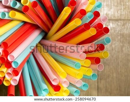 Straws  - stock photo