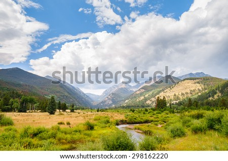 Stream and Mountains at Rocky Mountain National Park