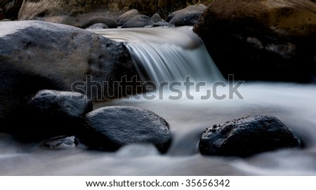 stream and rocks - stock photo