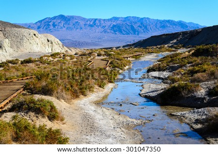 Stream at Death Valley National Park - stock photo
