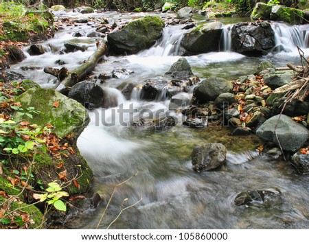 stream in mountains - stock photo