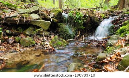Stream of water - stock photo