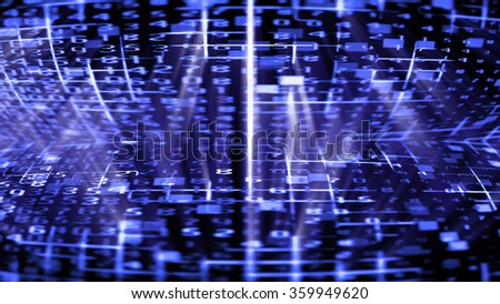 Streaming digital data abstraction 10518 from a series of futuristic tech imagery. - stock photo