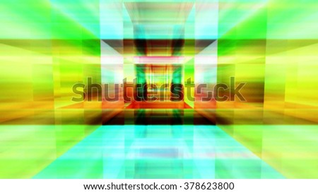 Streaming digital data abstraction 10788 from a series of futuristic tech imagery. - stock photo