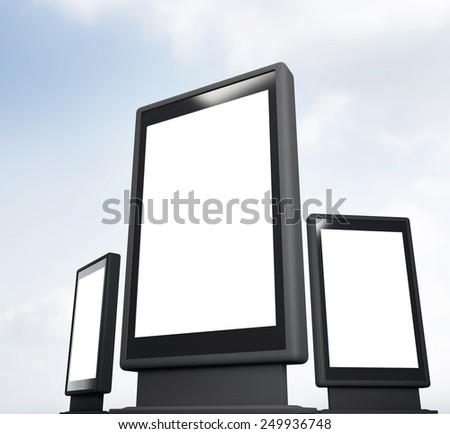 Street advertising billboard - stock photo
