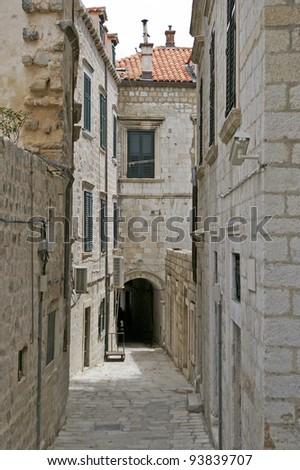 Street and passage in Dubrovnik Croatia - stock photo