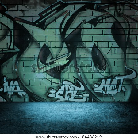 Street Art Graffiti Wall Background Urban Stock