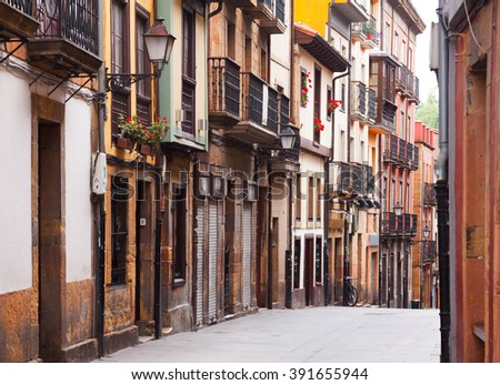 street at historical part of Oviedo. Asturias, Spain - stock photo