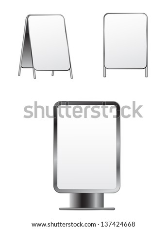 street banners - stock photo