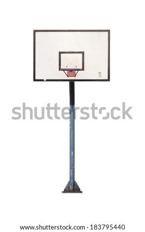 Street basketball hoop isolated on white - stock photo