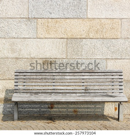 street bench view - stock photo