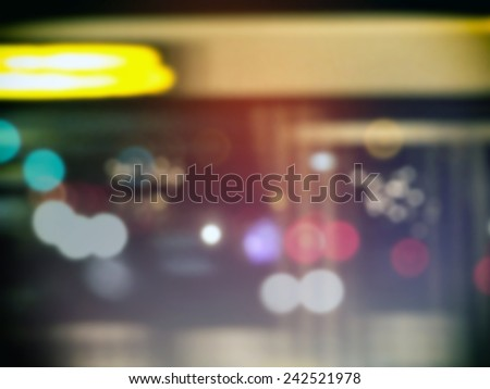 Street blurred lights of cars urban abstract bokeh - stock photo