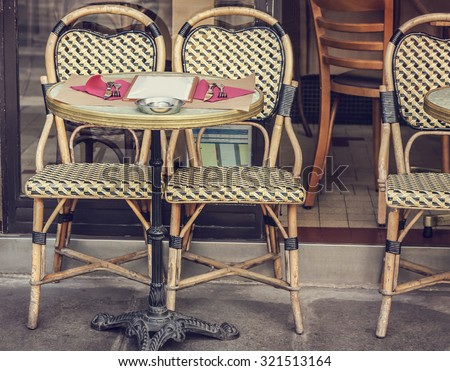 Street cafe - stock photo