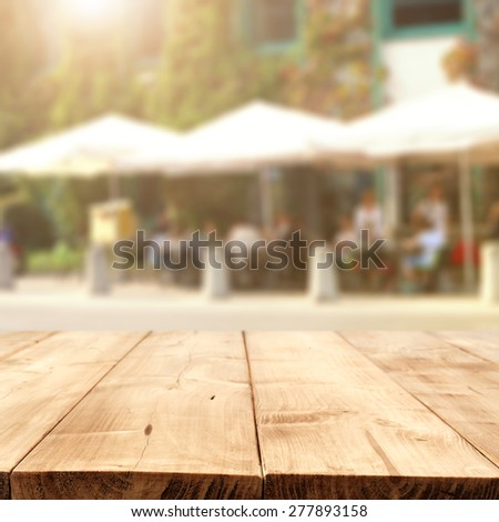 street cafe and table  - stock photo