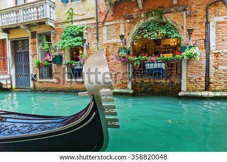 Street cafe in Venice Italy - stock photo