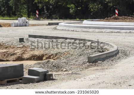 Street construction site - stock photo
