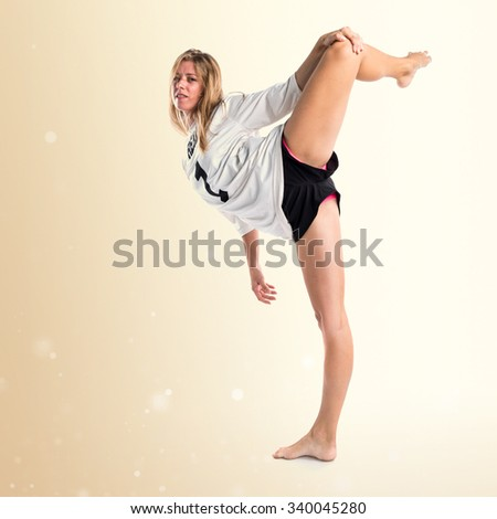 Street dance woman dancing contemporary dance - stock photo