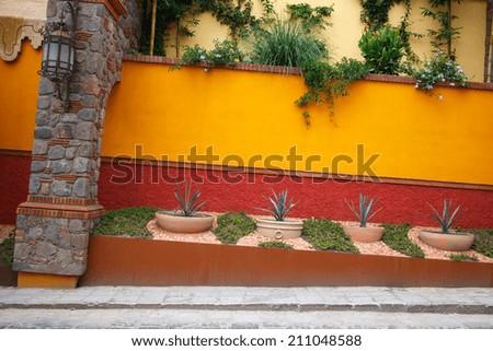 Street detail in San Miguel de Allende - stock photo