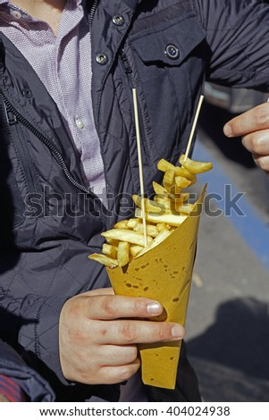 Street food: French fries