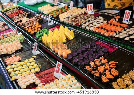 Street food in Thailand market - stock photo