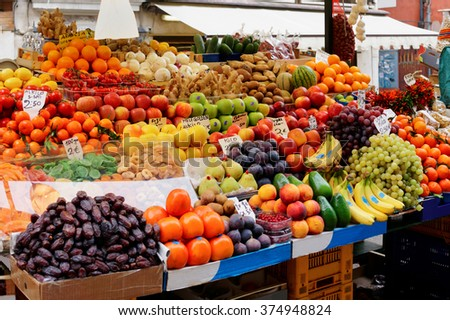 Street food market - stock photo