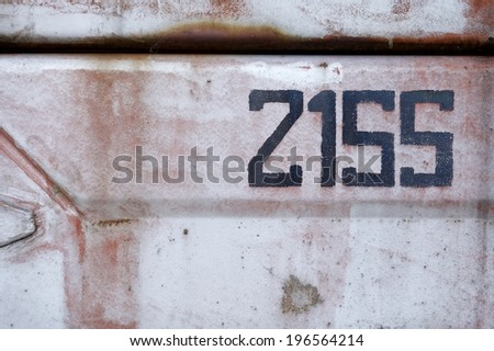 street house numbers.number 2155 - stock photo