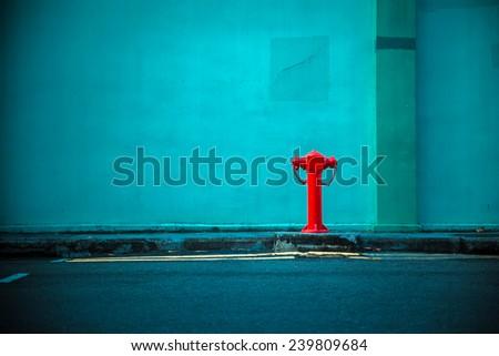 street hydrant on the street - stock photo