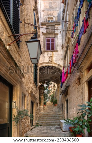 street in Dubrovnik. Croatia. - stock photo