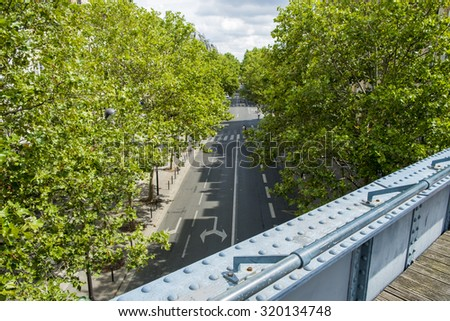 Street in Paris, France - stock photo