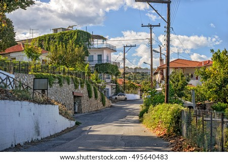 Street in small greek town