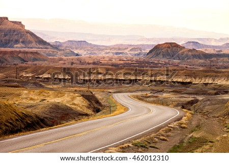 street in the desert - utah - unites states of america
