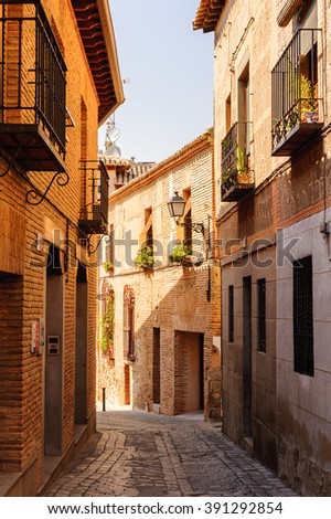 Street in the Old city of Toledo, Spain, UNESCO World Heritage