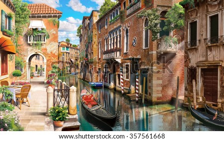 Street in Venice - stock photo