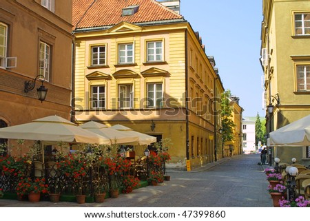 Street in Warsaw's Old Town