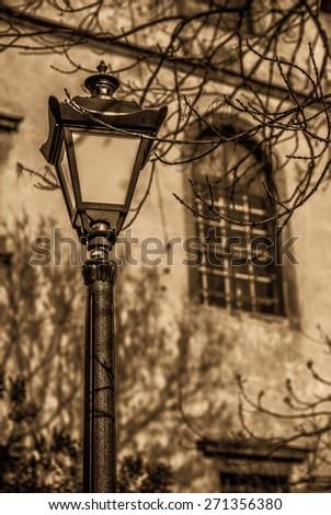 Street lamp. - stock photo