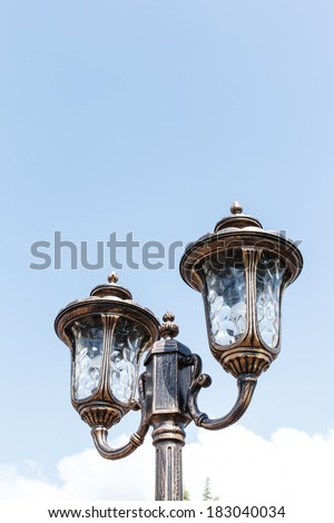 Street lamp during day time - stock photo