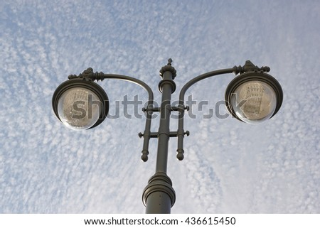 Street lamp in Moscow center