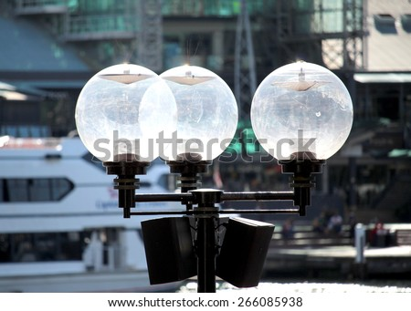 Street Lamp in Sydney Australia - stock photo