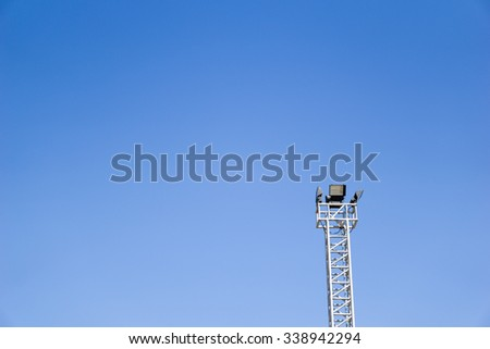 Street lamp in the blue sky - stock photo