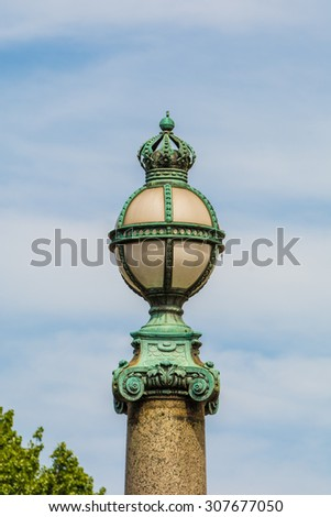 street lamp in the city of Berlin, Germany