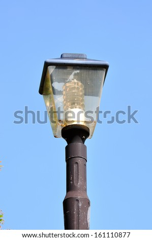 Street lamp in the old style, in the park